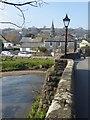 SX1059 : Lostwithiel mediaeval bridge: View westwards by Rob Farrow