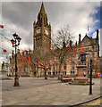 SJ8398 : The Town Hall, Albert Square by David Dixon