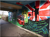 SO6302 : Mural in Lydney by Eirian Evans