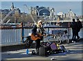 TQ3080 : South Bank Busker by Neil Theasby