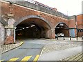 SJ8397 : Going under Manchester Central by Gerald England