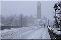 NT2540 : Snow on Tweed Bridge, Peebles by Jim Barton