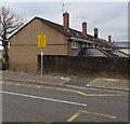 ST3096 : Four chimneystacks, Ynys Lane, Croesyceiliog, Cwmbran by Jaggery