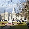 NJ7721 : War Memorial garden, Market Square,  Inverurie by Stanley Howe