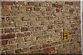 SE9130 : Brickwork and Hydrant sign by Bob Harvey