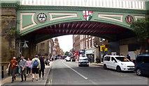 SO8455 : Foregate Street railway bridge by Jonathan Billinger