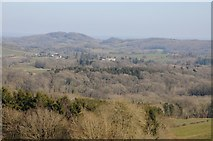 SO6755 : View to Whitbourne Hall and the Teme valley by Philip Halling