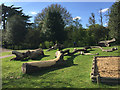 SP3165 : Felled trees redeployed as play equipment, Victoria Park, Royal Leamington Spa by Robin Stott