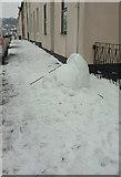 SX9164 : Felled snowman, Upton Road by Derek Harper