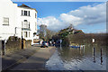 TQ1673 : High Tide, Riverside, Twickenham by Des Blenkinsopp