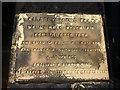 SJ3093 : Dedication plaque for Mount Road Reservoir by Karl and Ali