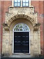 SO8455 : Door and porch to Victoria Institute by Philip Halling
