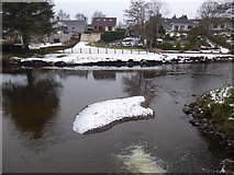 H4772 : Snow and gravel, Camowen River by Kenneth  Allen