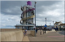 NZ6025 : Redcar Beacon on the Redcar seafront by Mat Fascione