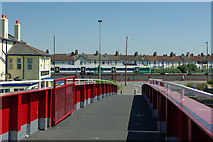 TQ0202 : East span of retracting bridge, Littlehampton by Robin Webster