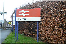 SX9886 : Exton Station sign by N Chadwick