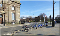 NS5964 : Nextbike Glasgow cycle hire point: Glasgow Green - Saltmarket / Clyde Place by Thomas Nugent