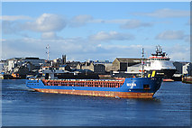 NJ9505 : 'Nestor' Leaving Harbour by Anne Burgess
