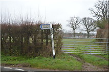 SY0086 : Road sign, Downs Corner by N Chadwick