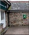 ST5088 : Defibrillator box on the wall of Portskewett Pharmacy, Portskewett by Jaggery