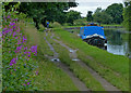 SD5908 : Moored narrowboat on the Leeds and Liverpool Canal by Mat Fascione
