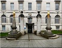 SE2934 : Leeds Civic Hall: Portland Gate Entrance by Gerald England