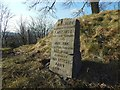 NS7993 : Boer War memorial stone by Lairich Rig