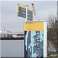 J3575 : Information board & signpost, Belfast by Rossographer