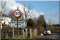 TL1421 : Breachwood Green Village Name sign on Lye Hill by Geographer