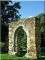 SK2504 : Entrance arch to Alvecote Priory in Staffordshire by Roger  Kidd