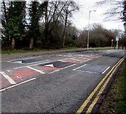 ST3096 : Three speed bumps across Edlogan Way, Croesyceiliog, Cwmbran by Jaggery