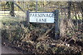 TL1624 : Parsonage Lane sign by Adrian Cable
