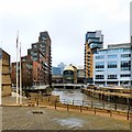 SE2933 : River Aire through Leeds by Gerald England