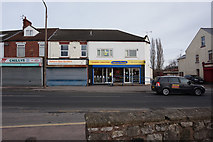 SE5613 : Shops on Station Road, Askern by Ian S