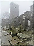 SD9828 : St Thomas a Becket Church ruins in Heptonstall by Neil Theasby