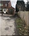 SJ7745 : Narrow passageway in Madeley by Jonathan Hutchins