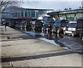 ST3088 : Large puddle, Newport railway station taxi rank by Jaggery