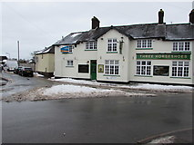 ST3090 : Snowy triangle opposite the Three Horseshoes, Malpas, Newport by Jaggery