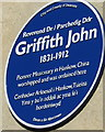 SS6593 : Griffith John blue plaque, Ebenezer Street, Swansea by Jaggery