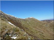SJ0631 : Craig y Llyn - the steep east wall of Moel Sych by Richard Law