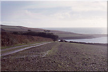 SW6424 : Looking down to The Loe, from above Pentire Wood by Christopher Hilton