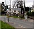 ST4988 : Pelican crossing near the western end of Main Road, Portskewett by Jaggery