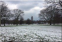 TQ2780 : Snowy Hyde Park (2) by Stephen Richards