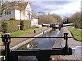 SO8691 : Canal Lock Scene by Gordon Griffiths