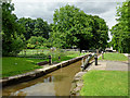 SP3097 : Atherstone Locks No 4 in Warwickshire by Roger  Kidd