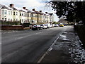 ST2987 : Snow remnants, Risca Road, Newport by Jaggery