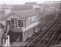 SJ7788 : Altrincham North signal box by Richard Sutcliffe