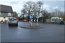 SX9888 : Mini-roundabout, Clyst St George by N Chadwick