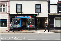 ST0207 : Cullompton: charity shop in Fore Street by Martin Bodman