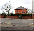 ST2994 : BT telecoms cabinet, Llantarnam Road, Cwmbran by Jaggery